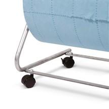 Conjunto de rolos para suporte de parede para rolos não tecidos