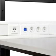 Contactdozen voor kabelgoten voor de paktafels Classic en Multiplex