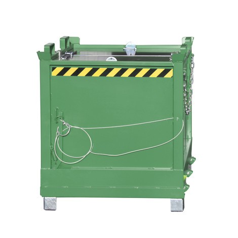 Container med bottentömning, 3-faldig stapling, lackerad, volym 2 m³