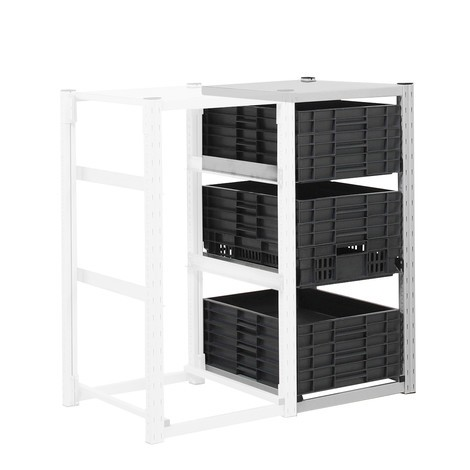 Container rack for Euro boxes, add-on unit