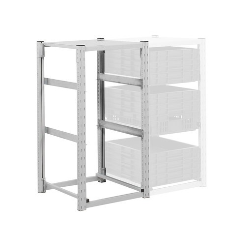 Container rack for Euro boxes, base unit