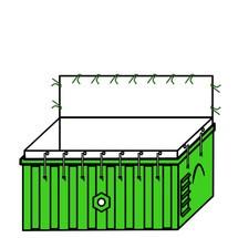 Containerzak asbest en minerale wol, met sluiting en riempjes