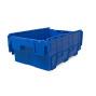 contenedor apilable able de polipropileno reutilizable con tapa abatible