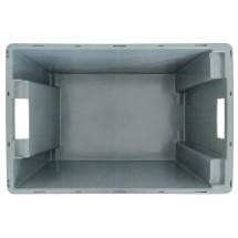 Contenedor apilable giratorio, paredes + fondo cerrados