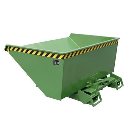 contenedor basculante con mecanismo rodante automático, capacidad de carga 1.000 kg, pintado, volumen 0,9 m³