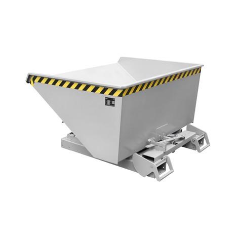 contenedor basculante con mecanismo rodante automático, galvanizado