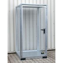 contenedor de cilindro de gas con techo|tejadillo, con bolsillos para montacargas