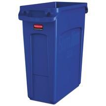 Contenedor de reciclaje Rubbermaid Slim Jim® con canales de ventilación