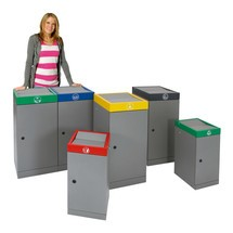 Contenedor de reciclaje stumpf®, puerta de una hoja