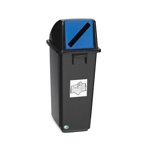 Contenedor de reciclaje VAR®, 58 litros, de PP