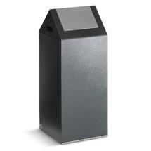 Contenedor de reciclaje VAR®, 60 litros, autoextinguible, de acero galvanizado y con recubrimiento de polvo