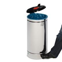 Contenedor de residuos con pedal Euro-Pedal, 60 litros