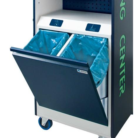 Contenedor de residuos doble para el carro de recogida de residuos y de limpieza CLEANING CENTER NEO