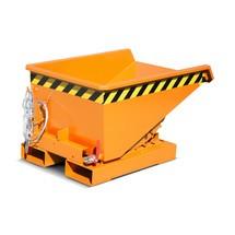 contenedor mini chip con mecanismo rodante, baja altura de construcción, pintado, volumen 0,15 m³