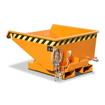 contenedor mini chip con mecanismo rodante, baja altura de construcción, pintado, volumen 0.225 m³