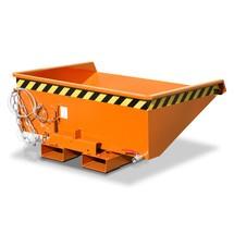 contenedor mini chip con mecanismo rodante, baja altura de construcción, pintado, volumen 0.275 m³