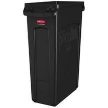 Conteneur à déchets Rubbermaid Slim Jim® pour chariot de ménage en microfibres