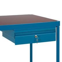 contenitore a cassetti in lamiera d'acciaio per tavolo e carrello di montaggio fetra®
