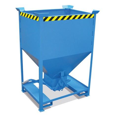 Contenitore a silo, con chiusura scorrevole + tasche di inforcamento, verniciato, volume 0,6 m³