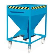 Contenitore a silo per merce sfusa a grana fine, zincato