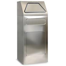 Contenitore per materiali riciclabili stumpf® in acciaio inox