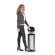 Contenitore per rifiuti a pedale in acciaio inox