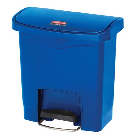 Contenitore per rifiuti a pedale Rubbermaid Slim Jim® con pedale sul lato lungo, materiale plastico
