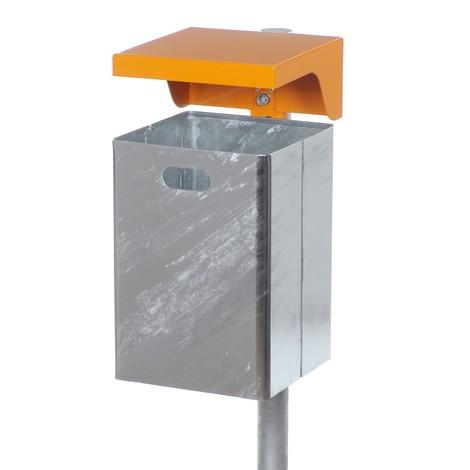 Contenitore per rifiuti con tettuccio, lamiera d'acciaio