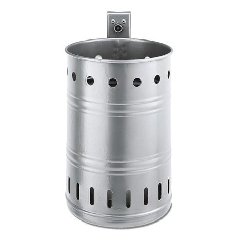 Contenitore per rifiuti in acciaio, 20 litri, rotondo, montaggio a parete, forato
