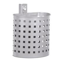 Contenitore per rifiuti in acciaio, 20 litri, semicircolare, montaggio a parete