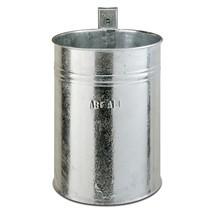 Contenitore per rifiuti in acciaio, 35 litri, rotondo, montaggio a parete, struttura chiusa