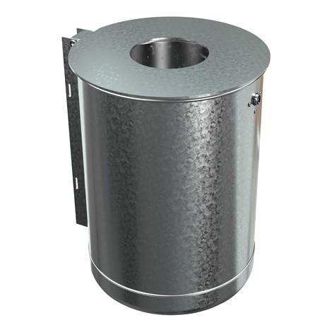 Contenitore per rifiuti in acciaio, 50 litri