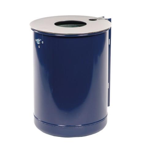 Contenitore per rifiuti in acciaio, 50 litri, con posacenere