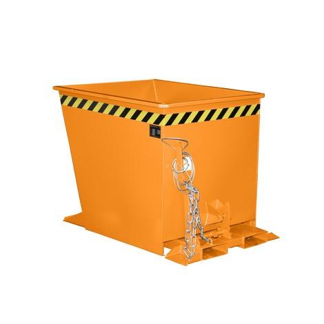 Contenitore ribaltabile per convogli, verniciato, volume 0,55 m³