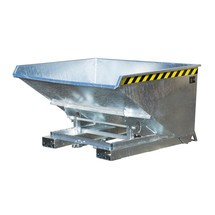 Contenitore ribaltabile per trucioli con meccanismo automatico di srotolamento, zincato