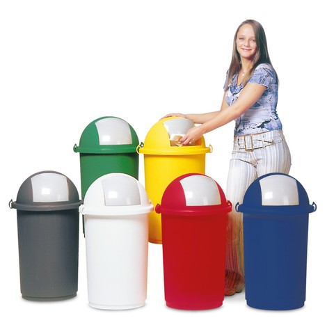 Contenitore rifiuti VAR® 50 litri, con sportello basculante