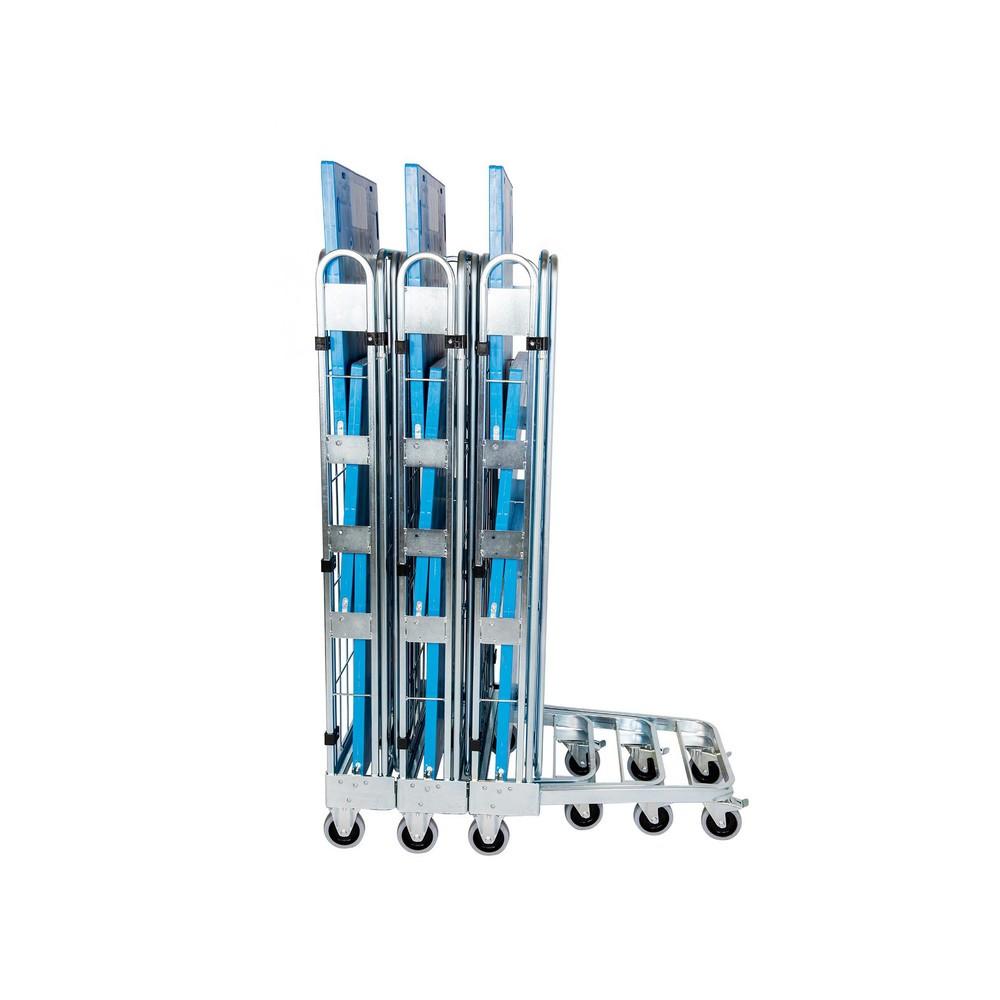 contentor de rolos, 3 lados, com pé de plástico, aninhável