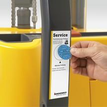 Contrato de manutenção e testes FEM Porta-porta-paletes elétrica Ameise®