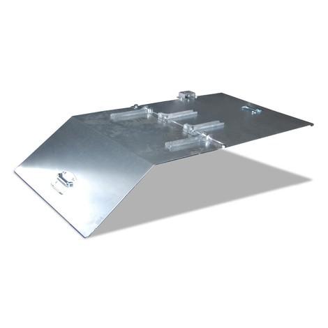 Coperchio per mini contenitore ribaltabile/mini contenitore per trucioli