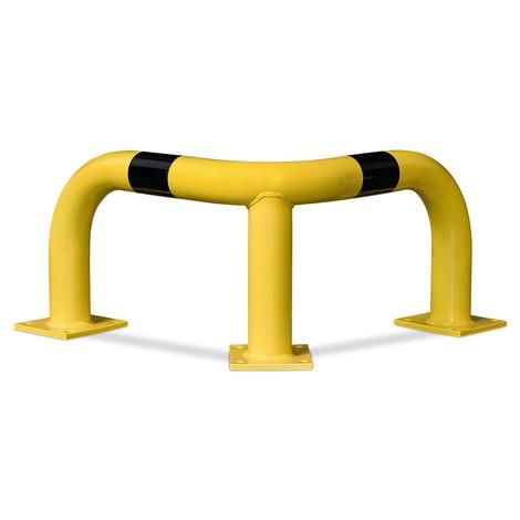 Corner hoop guard for indoor and outdoor use, hot-dip galvanised