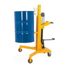 Corsa pedale sollevatore fusti, per fusti in acciaio da 200 litri