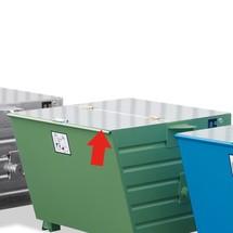 Couvercle pour conteneurs basculants