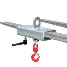 Crochet de charge pour chariot élévateur à fourche et grue, galvanisé