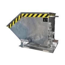 Cubeta con mecanismo de vuelco, en forma de caja, galvanizada