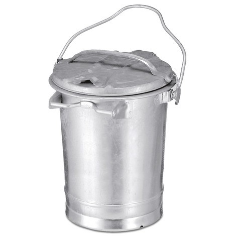 Cubo de basura de chapa de acero