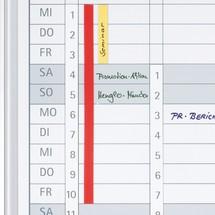 Datumsstreifen für Jahreskalender FRANKEN JetKalender