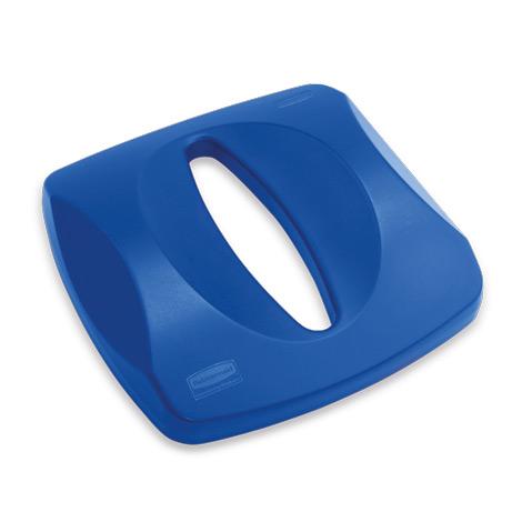 Deckel für Papiereinwurf, blau