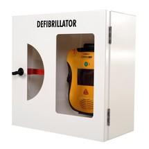 Defibrillatoren-Schrank mit Einschlagscheibe und akustischem Alarm