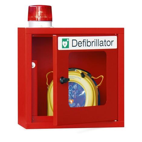 Defibrillatorkast met akoestisch en optisch signaal