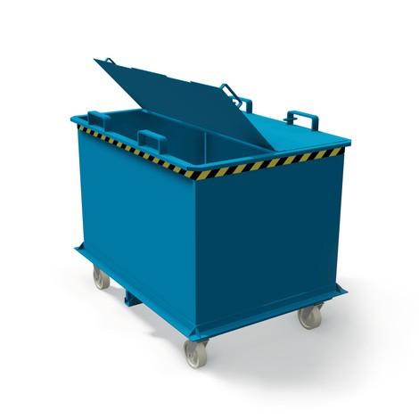 Deksel voor inklapbare bodemcontainer met automatische ontgrendeling, volume 0,75 + 1 m³
